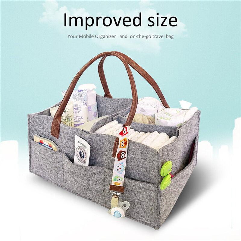 BABY DIAPER WIPES Bag Caddy Nursery Storage Bin Infant Nappy ...