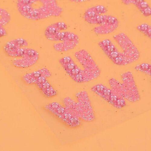 Kristall Glitzer Sticker Alphabet Buchstaben Aufkleber Selbstklebend Wandtattoo