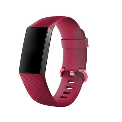 For Fitbit Charge 3 Watch Band Replacement Silicone Diamond Bracelet Wrist Strap 9
