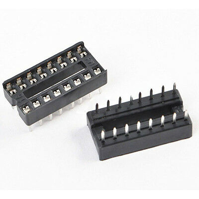 Splendid 30PCS 16-Pins DIP IC Sockets Adaptor Solder Type Socket R 2