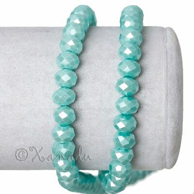 Robin Egg Blue Wholesale 8mm Faceted Crystal Beads G3726 - 50, 100 or 200PCs 3