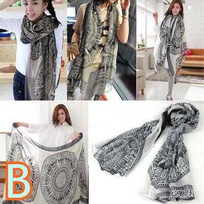 Fashion Ladies Women's Long Soft Wrap Shawl Scarf Pashmina Stole Scarves 7