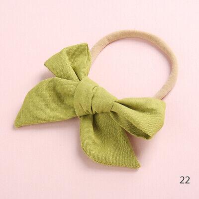 Baby Kids Toddler Soft Cotton Bow Tie Ring Nylon Headband Girls Hair Accessories 7