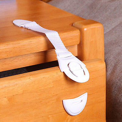 10Pc Baby Kids Child Adhesive Safety Lock For Cabinet Door Drawers Refrigerator~ 10