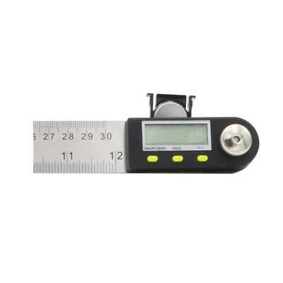 New SHAHE 300mm 12'' Digital Protractor Inclinometer Stainless Steel Angle Rule 7
