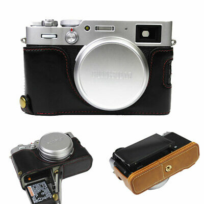 PU Leather Half Body Set Case Hard Bottom Skin Cover for Fuji X100S X100T