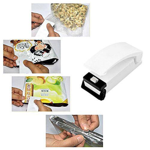 1Stk Mini Folienschweißgerät Haushalt Tüten Verschließen Hand Sealer 11*4CM DE