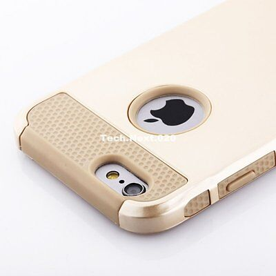 For Gold iPhone 6S Case Hybrid Shockproof Hard Heavy Duty Rubber iPhone 6 Cover