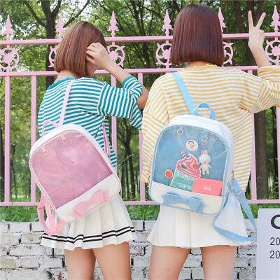 6 Colors CHIC  ita bag Transparent Pin Display Backpack Kids Student School bags 2