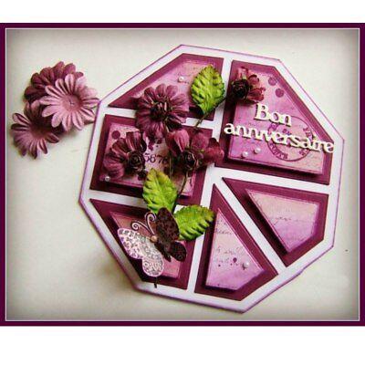 Romantic Mini French Words Cutting Dies Stencil Scrapbook album Embossing Card 4
