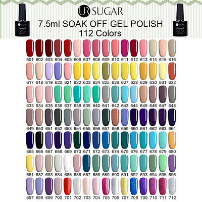 24Colors UV Gel Nail Polish Soak off Candy Color Gel Varnish Manicure UR SUGAR 2