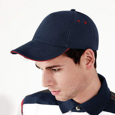 Personalised Embroidered Baseball Cap Contrast Custom Printed Hat Mens Ladies 4