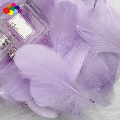 100pcs Natural Goose Feathers 8-12 Cm Swan Plume DIY Carnival Decoration Craft 8