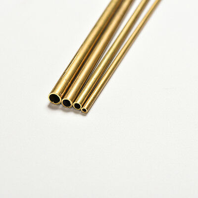 2 of 6 Brass Tube Pipe Tubing Round Inner 2mm 3mm 4mm 5mm Long 300mm Wall