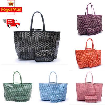 Fashion Women Tote Large Shopper Bags Canvas/Leather Handbag Big Purse 7