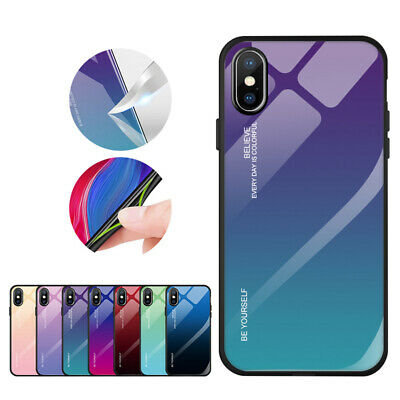 Tempered Glass Phone Case For Apple iPhone 11 Pro Max 6S 7 8 Plus X XS MAX XR 9