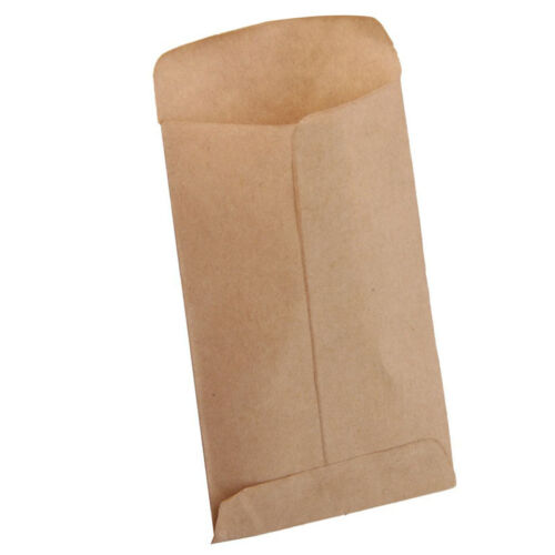 100pcs Small Kraft Paper Gift Bags Vintage Wedding Treat Brown Paper Bag 6