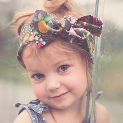 Baby Girls Floral Headwrap Top Knot Big Bow Turban Tie Headband Hair Accessories 10