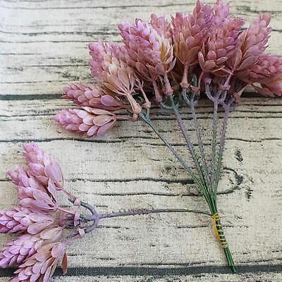 30 Heads Small Pineapple Plastic Leaves DIY Wedding Plant Green Leaf Home Decor 4