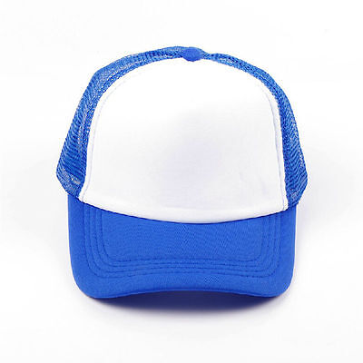 Kids Boys Baseball Cap Trucker Hat Blank Curved Hat Children Mesh Cap Adjustable 10