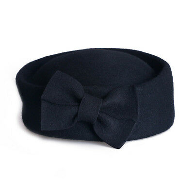 Ladies Beret Felt Wool Fascinator Bridal Wedding Pillbox Royal Ascot Hat T184 4