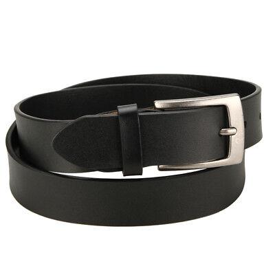 "YOOMALL Men's Leather Belt Slim 1 1//8"" Casual Jean Dakota Signature Buckle New"