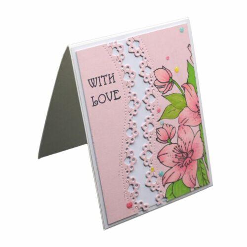 2pcs Lace Cutting Dies DIY Stencil Scrapbooking Album Paper Card Embossing Craft 12