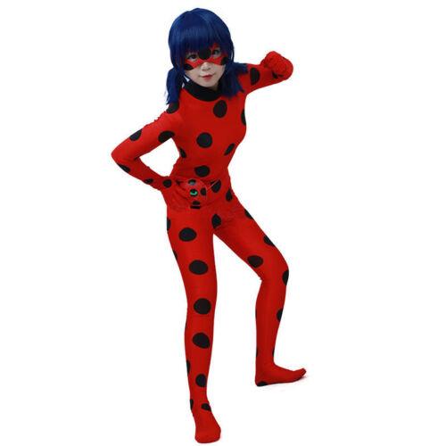 Kinder Der Miraculous Ladybug Ladybird Marinette Kostüm Overall Mask Bag Anzug