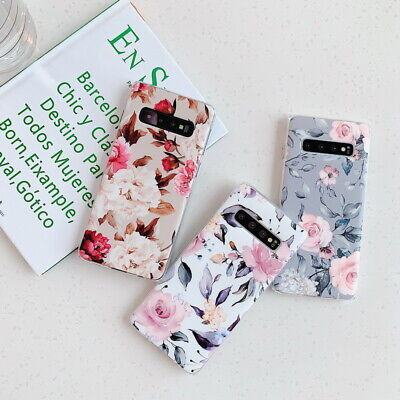 Shockproof Flower Slim Phone Case Cover For Samsung Galaxy S10 Plus A70 A50 S9 5