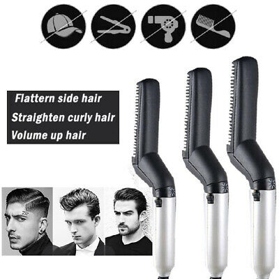 Quick Beard Straightener Multifunctional Hair Comb Curling Curler For Man Show 4