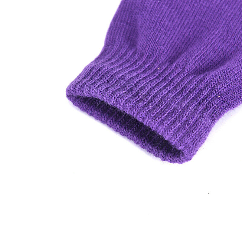 1 Pair Soft Half Fingerless Gloves Women Men Warm Knitted Mittens Couple _kz 9