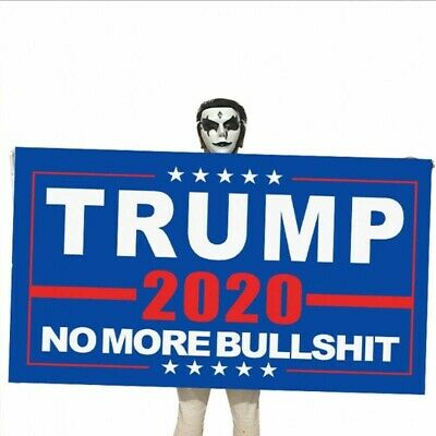 "Donald Trump 2020 Flag No More Bullshit 3X5"" MAGA Flag Banner Flag US Stock! 3"