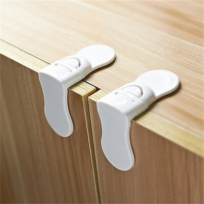 1~5 x Child Baby Kids Toddler Safety Drawer Door Cabinet Cupboard Fridge Lock TH 2