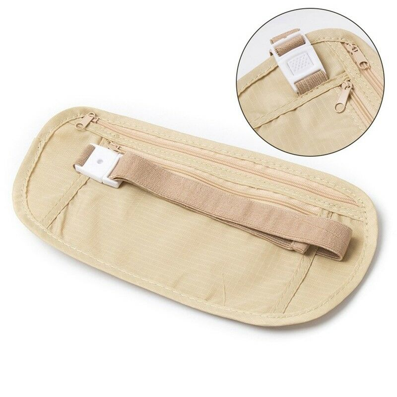 Pouch Hidden Wallet Passport Money Waist Belt Travel Bag Slim Secret Security 5