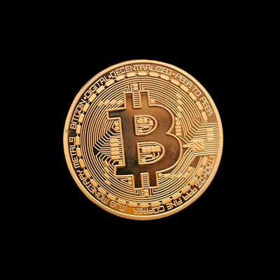 3PCS Bitcoin Commemorative Round Collectors Coin Bit Coin is Gold Plated Coins 3