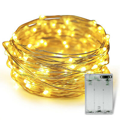 20/30/100 LED Battery Micro Rice Wire Copper Fairy String Lights Party white/rgb 8