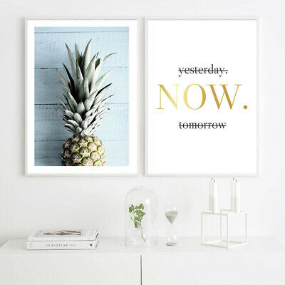 Pineapple Ocean Beach Canvas Poster Seascape Print Tropical Decoration Picture 4