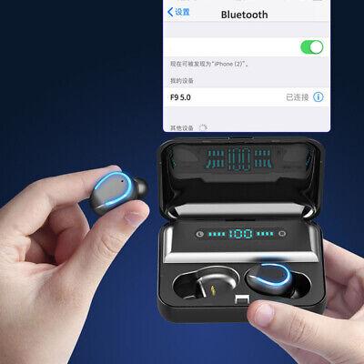 Bluetooth 5.0 Earbuds Wireless Earphones TWS Stereo Deep Bass in-Ear Headphones 5