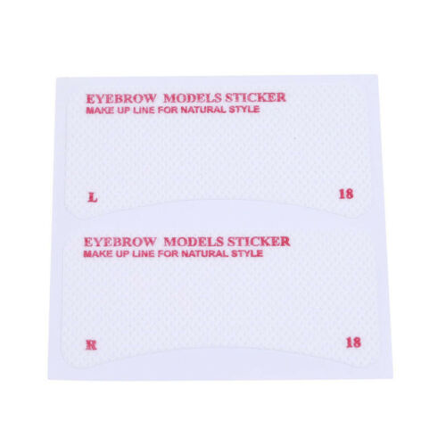 Thrush card Grooming Brow Stencils Eyebrow Template Stickers 24 pcs 1 Set LI 5
