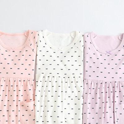 Girls Kids Children Pyjamas long sleeve Nightwear Cotton Night Dress Nightie 2