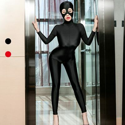 Front zipper Unisex  Spandex Zentai Skin Costume Bodysuit Catsuit Unitard