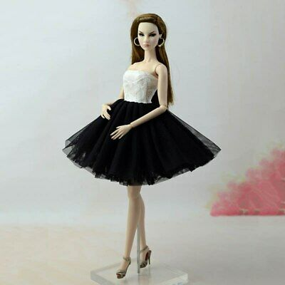 """Fashion Doll Clothes Short Ballet Dress For 11.5"""" Doll Outfits Evening Dress 1/6 8"""