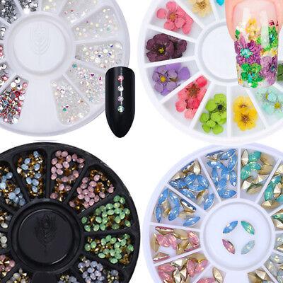 3D De uñas Arte Consejos Cristal Brillo Diamantes de imitación Decoración Rueda 3