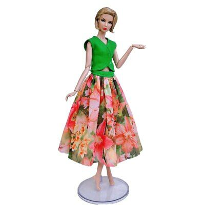 "Fashion Doll Clothes For 11.5"" Doll Dress Outfits Gown Top Floral Midi Skirt 1/6 6"