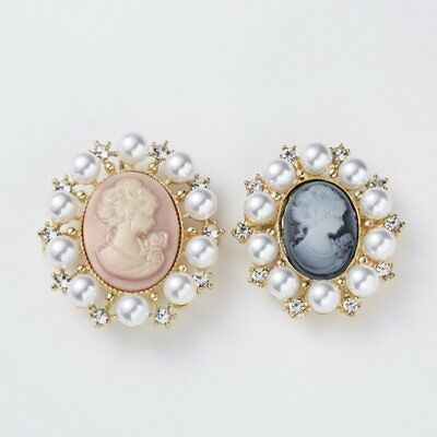 Vintage Cameo Pearl Crystal Rhinestone Brooch Pins Flower Women Wedding Bridal 8