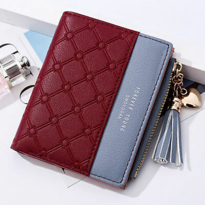 Fashion New Wallet Women Coin Bag Leather Lady Simple Bifold Small Handbag Purse 11