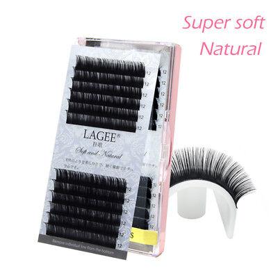 Soft 3D Mink Hair Individual False Eye Lashes Extensions B/C/CC L7-15mm Makeup
