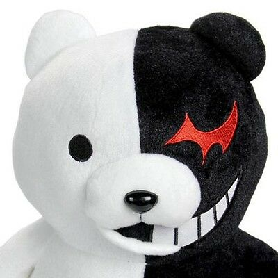 "25cm/9.8"" Danganronpa Monokuma Black&White Bear Dangan Ronpa Soft Plush Toy Doll 4"