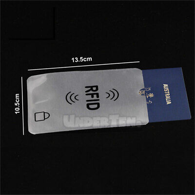 RFID Blocking Sleeve Secure Credit Card ID Protector Anti Scan Safety 2xL + 5xS 2