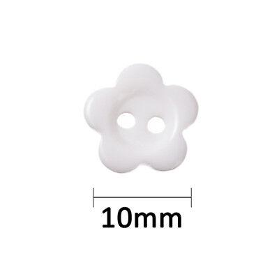 lot 20 bouton blanc fleur 2 trou 10 mm couture scrapbooking création art créatif 2